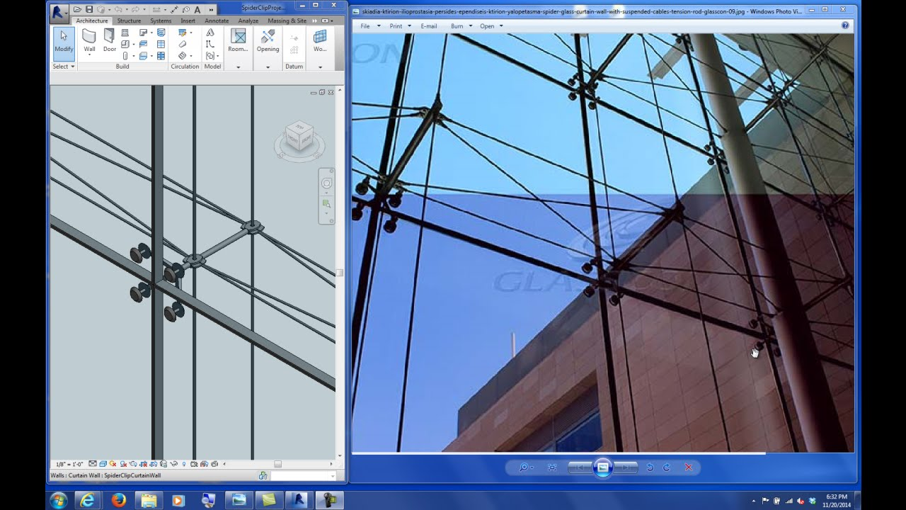 Spider Glass Wall : Spider glass curtain wall revit gopelling