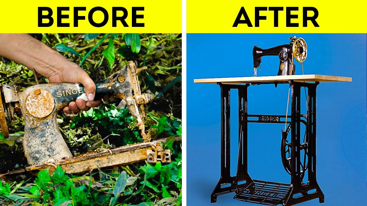 RESTORATION PROCESS IS mesmerizing! Check out these reincarnation of old things