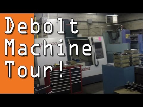 Tour of Debolt Machine Shop!  Model Engine & Job Shop!