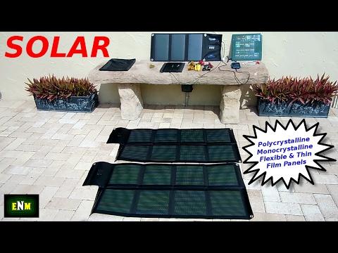 Types of Solar Panels & Folding USB Power