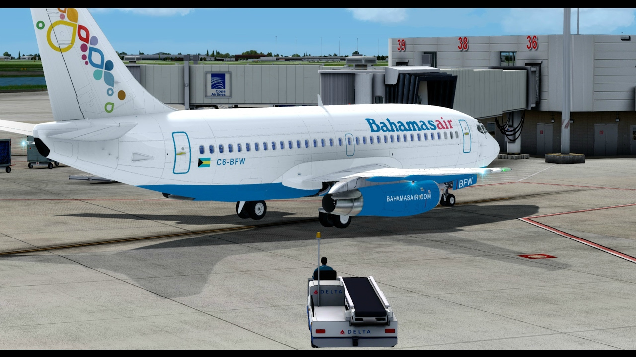 Prepar 3D v3.4 Bahamasair Group Flight to Orlando Milviz ...