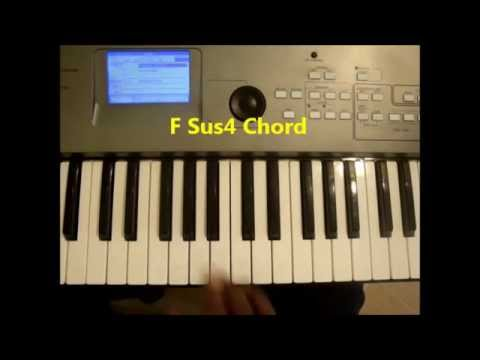 How To Play F Sus4 Chord On Piano And Keyboard Youtube