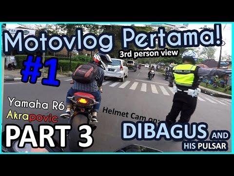 Yamaha R6   Motovlog #1 (3/4) Meet Dibagus Aryoseto, ITB Campus Ride