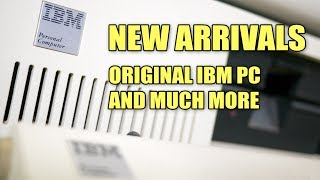 New arrivals including an IBM PC 5150! Let's crack it open!