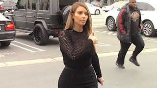 Who's The Boss? Kim Kardashian Directs The Paparazzi At The Studio [2014]