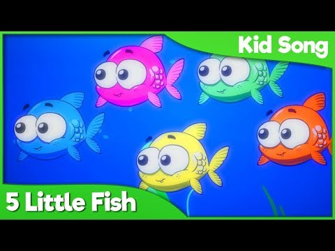Five Little Fish Song For Kids 🎣