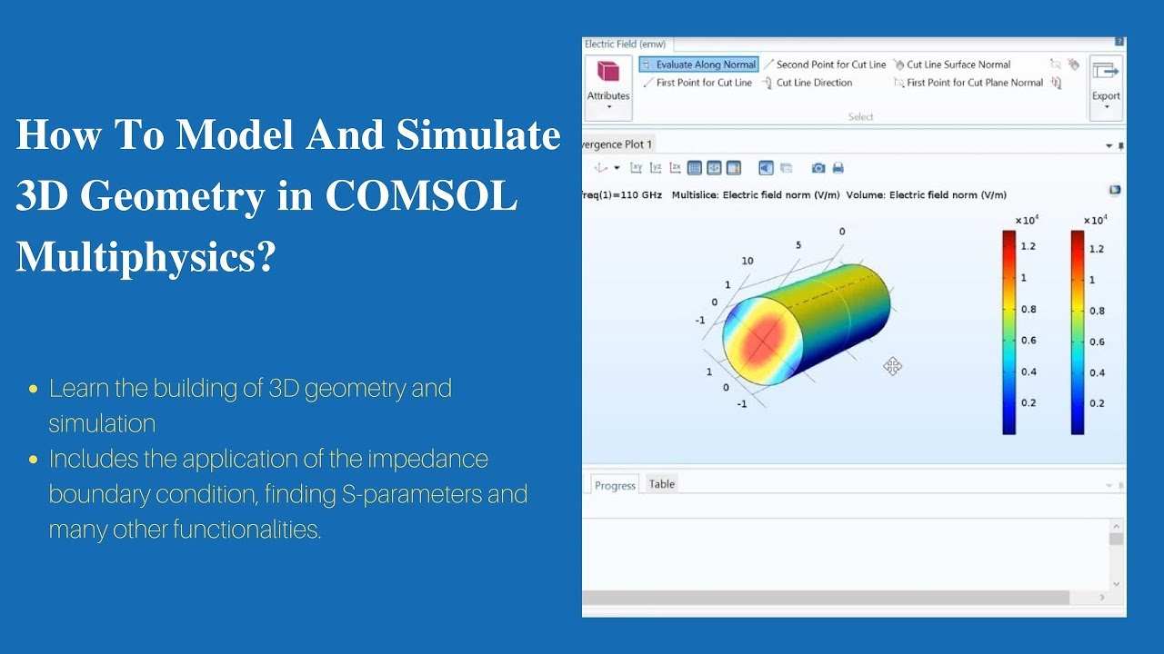 How To Model And Simulate 3D Geometry? | COMSOL Multiphysics Tutorial-2
