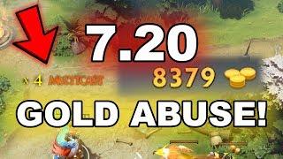 Dota 2 Tricks: NEW 7.20 patch GOLD ABUSE!