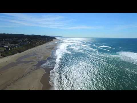 Oregon Coast lincoln city & newport - Drone
