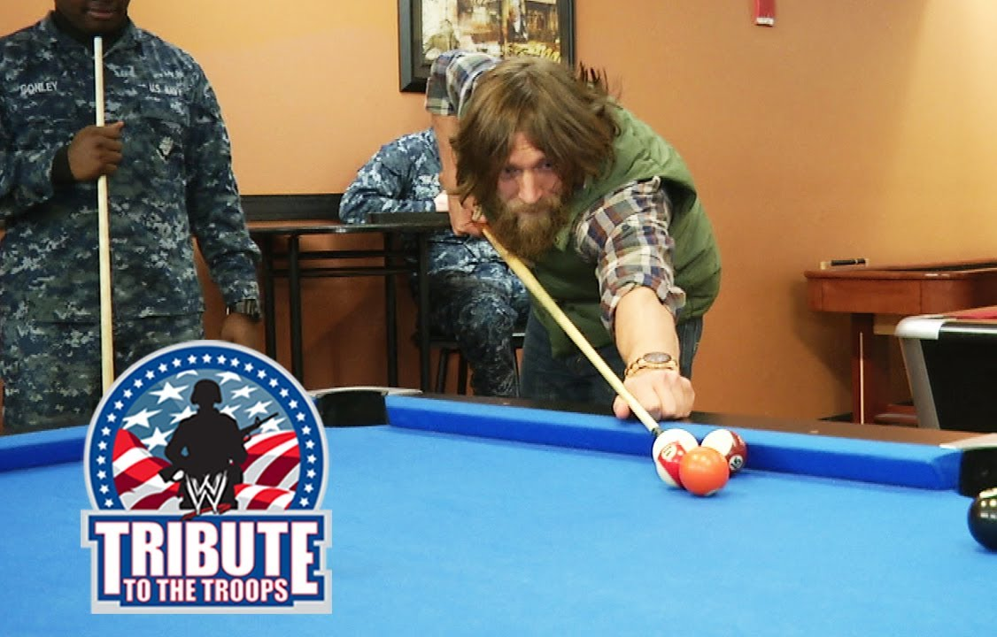 Daniel Bryan and Big E Langston show off their pool skills: 2013 Tribute to The Troops