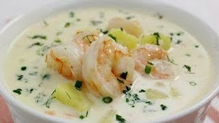 видео Сырный суп с креветками