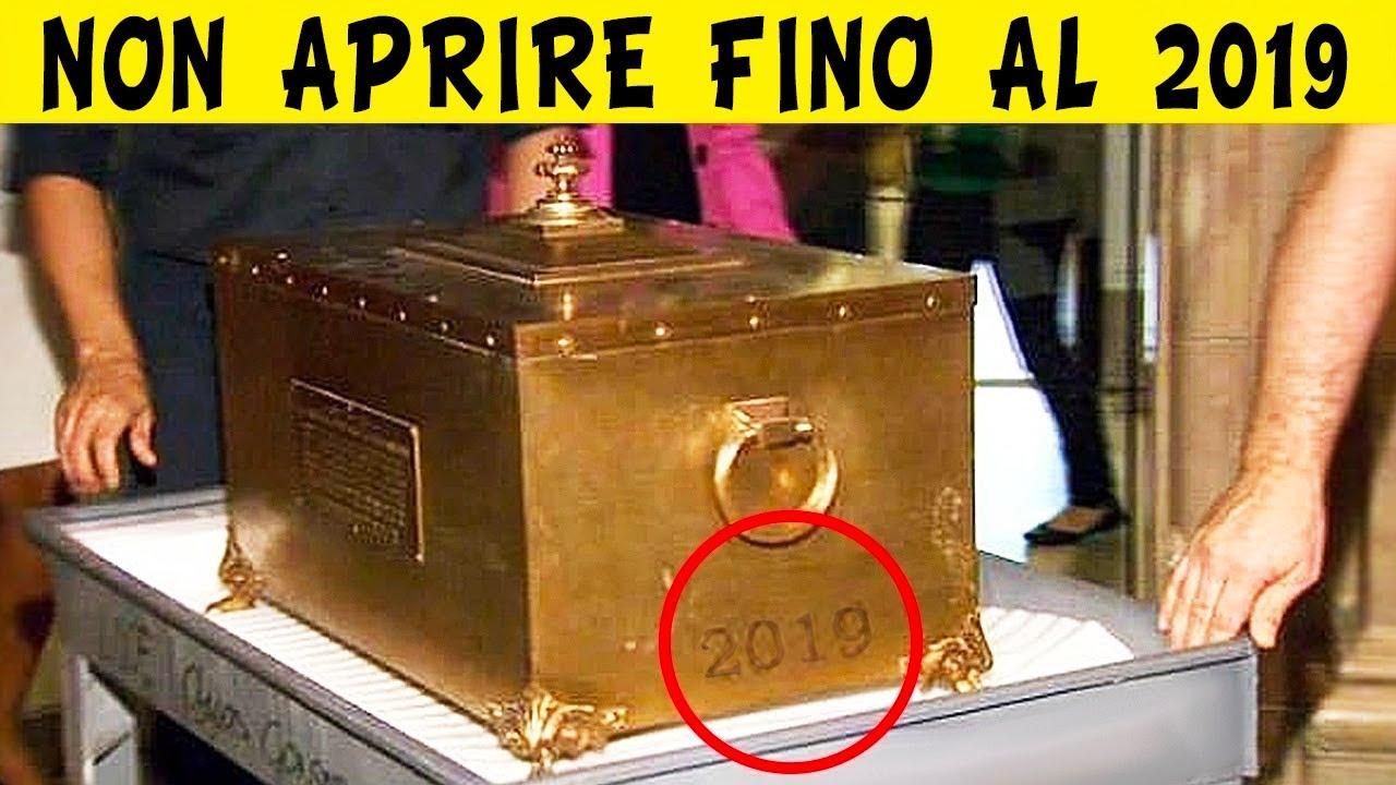 Aprono Capsula Del Tempo Vecchia 100 ANNI!