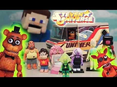 FNAF Freddy Foxy VS Steven Universe Mcfarlane Toys Construction Set Five Nights at Freddys Unboxing