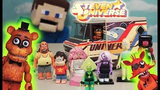 FNAF Freddy Foxy VS Steven Universe Mcfarlane Toys Construction Set Five Nights at Freddy's Unboxing