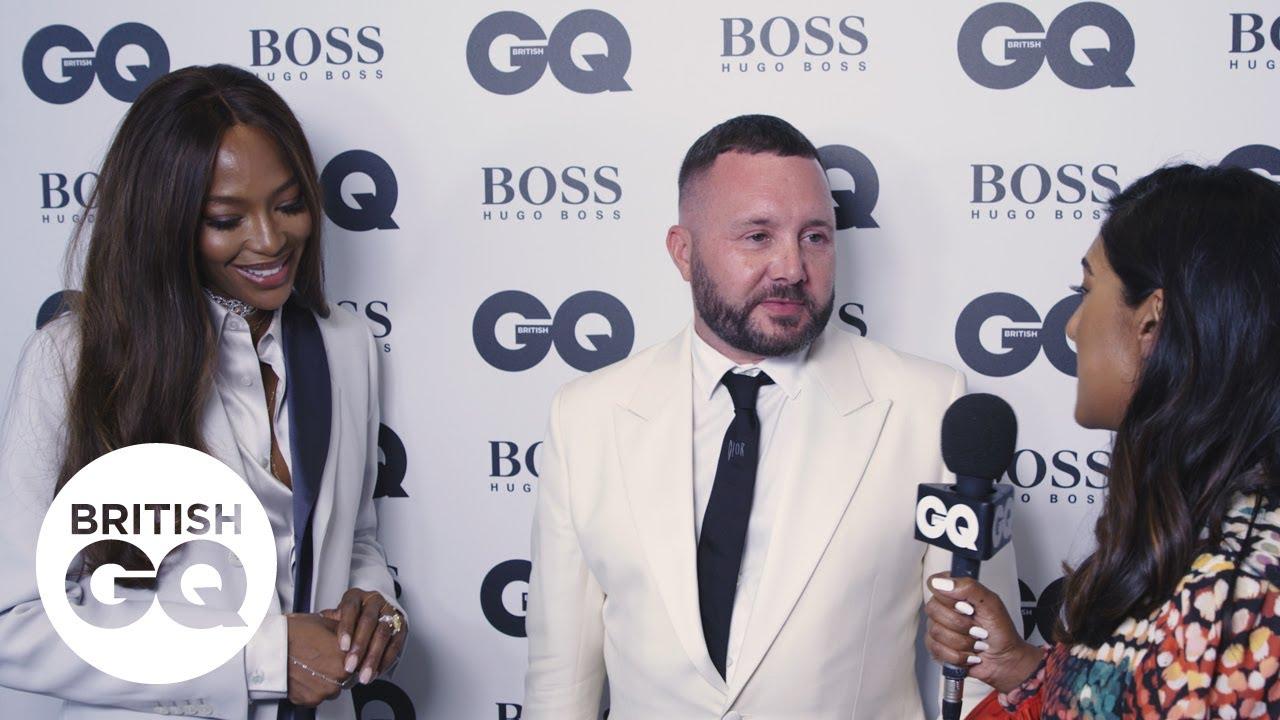 Kim Jones and Naomi Campbell bond over bird calls backstage at the GQ Awards | British GQ