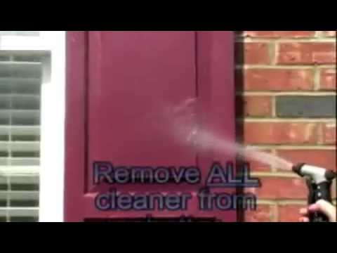 How To Clean Faded Vinyl Shutter Amp Vinyl Siding With