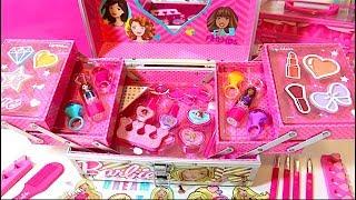 Barbie Deluxe Makeup💄Cosmetic Set Glitter Lip Gloss Unique Boutique 3#