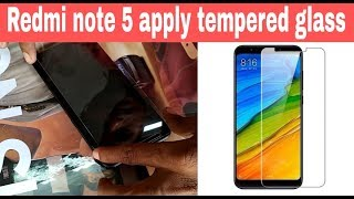 How to apply tempered glass ||  Redmi note 5 || screen guard || screen protector