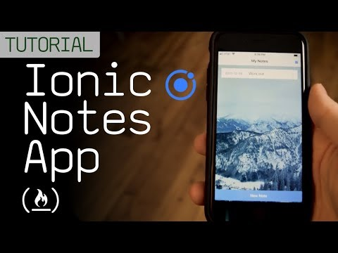 Ionic Notes App Tutorial (Mobile App Development)