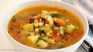 Summer Harvest Soup With Corn, Tomatoes & Zucchini