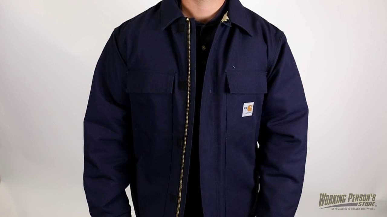 f1871b5e723 Carhartt Men s 101618 Flame Resistant Cotton Duck Traditional Lined Coat