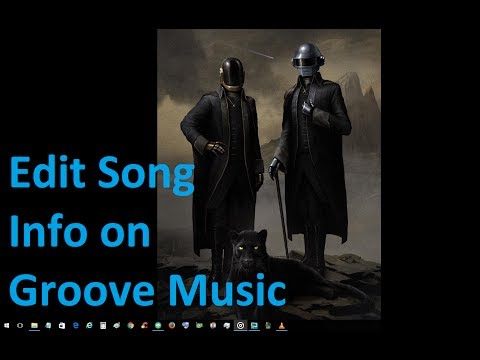 Edit Song Info on Groove Music