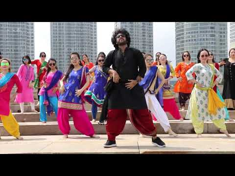 Kala Chasma (Basic Steps) Bhangara- Devesh Mirchandani in Yantai (China)