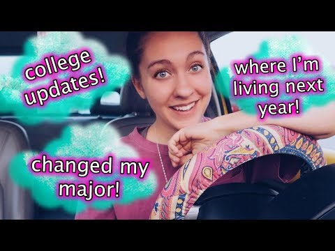 DRIVE WITH ME: COLLEGE UPDATES! CHANGED MY MAJOR, LIVING PLANS FOR NEXT YEAR, MOVING!