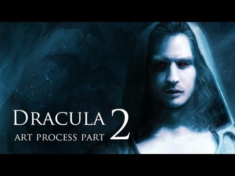 Digital Art Process – Dracula – Process Part 2