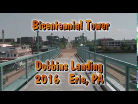 2016. Erie,PA. The Bicentennial Tower & Dobbins Landing.