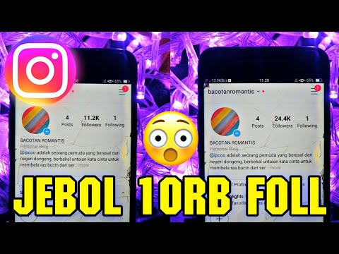 Tutorial Cara Menambah Followers Instagram
