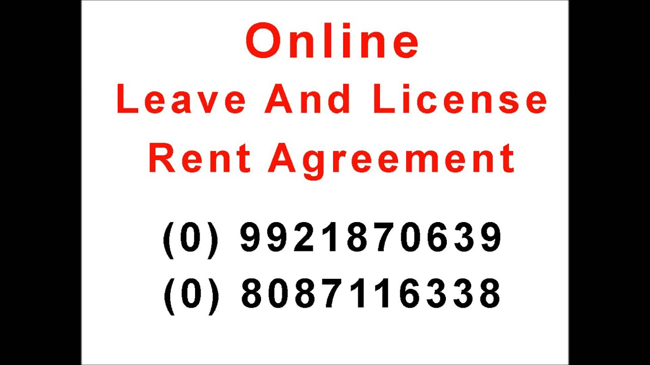 Line Leave And License Agreement And Rent Agreement