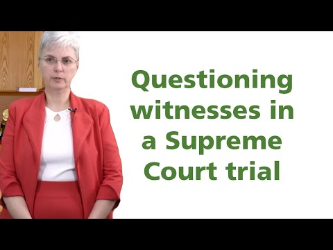 Sample Questions To Ask When Cross Examining Witnesses At A