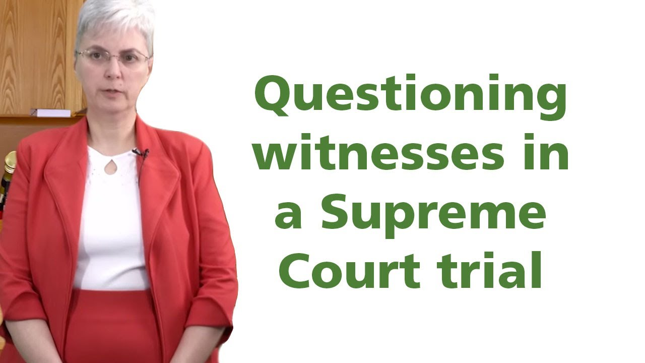 Sample questions to ask when cross-examining witnesses at a