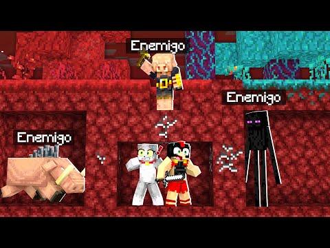 Minecraft: NADIE ESCAPA DEL NETHER SIN MORIR 🔥😱 RETO 99% IMPOSIBLE - INVICTOR y ACENIX