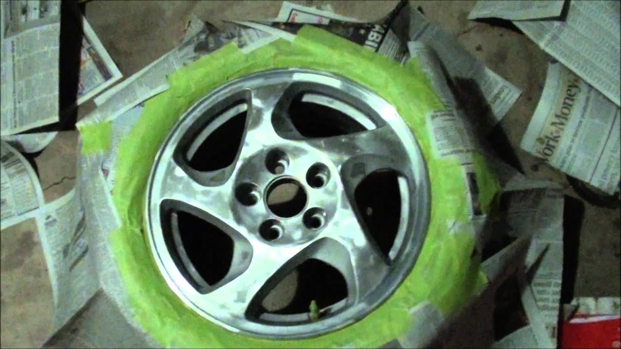 Prelude honda 2001 paint your rims youtube for Diy rim painting