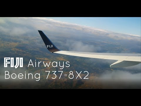 Passenger View! Fiji Airways Boeing 737-8X2 Stunning Takeoff from Nadi International Airport
