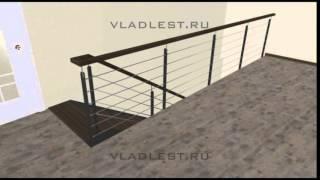 Дубовая лестница на тетиве(Проект ООО