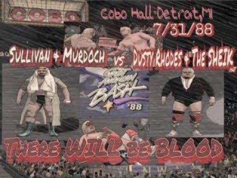 Bash'88 Detroit - U.S. Tag Team Title - Midnight Express(c) w/Jim Cornette vs. The Fantastics