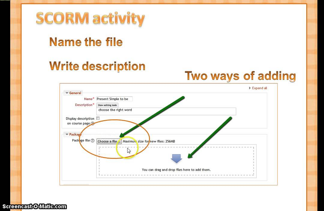 Moodle MOOC with WizIQ -week 2 - Tutorial adding SCORM activities