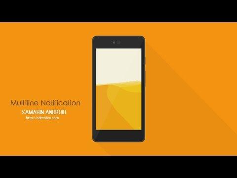 Xamarin Android Tutorial - Multiline Notification