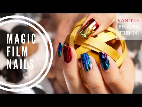LATEST KOREAN NAIL TREND: MAGIC FILM NAILS