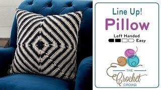 How to Crochet A Pillow: Line Up! Pillow