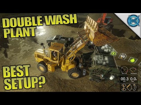 DOUBLE WASH PLANT BEST SETUP?   Gold Rush: The Game   Let's Play Gameplay   S01E11