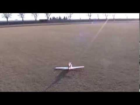 BD5 Foamy RC plane maiden flight with crash