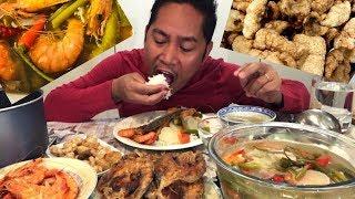 SINIGANG NA SUGPO! PRITONG ISDA! CHICHARON! HALABOS NA HIPON! Mukbang. Filipino Food
