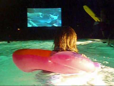 Outdoor Movie By A Swimming Pool Dive In Movie Float In Movie Georgia Youtube