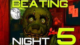 FNAF 3   Beating Night 5! (Bad Ending & EXTRAS!)
