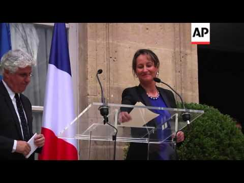 Segolene Royal takes over as minister of environment and energy in the new government
