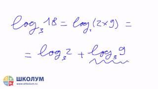 3  Свойства логарифмов  Логарифм произведения
